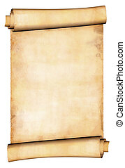 Antique paper scroll