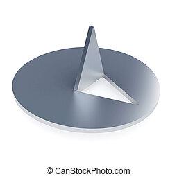 Thumbtack - Steel thumbtack - isolated on white background