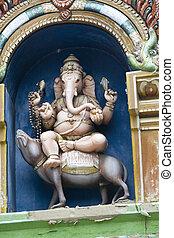 Ganesha Sitting on Vehicle - Idol of Lord Ganesha sitting on...
