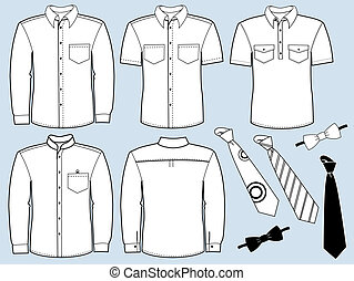 Man shirts and neckties.Fashion clothes - Vector clothes...