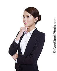 asian businesswoman - studio portrait of a young asian...