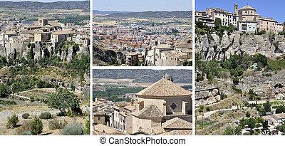 Cuenca, Spain - Set of photos of old town Cuenca, Spain....