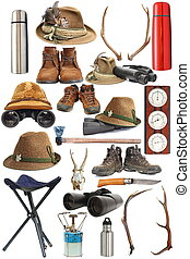 collection of hunting and outdoor equipment - large...