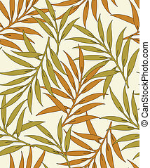 Seamless vector leaves background-pattern