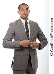 Handsome attractive Hispanic African American businessman -...