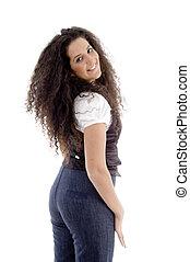 cute latin american model posing