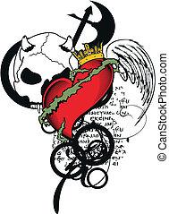 heraldic heart coat of arms2