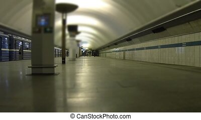 subway station Time Lapse - Time lapse shot of Saint...
