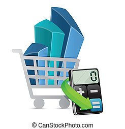 shopping graph and modern calculator
