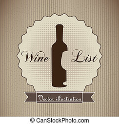 wine label over brown background. vector illustration