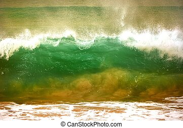 Green wave - Powerful waves  at Kap Verde