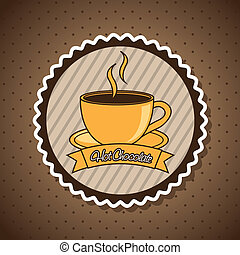 chocolated - hot chocolated label over brown background....