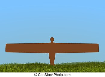 Angel of the North - Illustration of the Angel of the north...