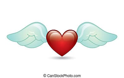 angel wings over white background. vector illustration