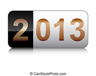 year 2013 button