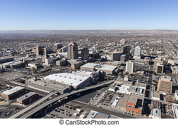 Albuquerque New Mexico Downtown Aerial - Albuquerque New...