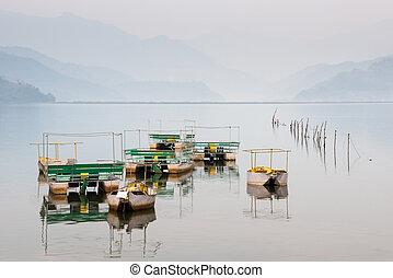 Pokhara, Lac,  Népal,  phewa