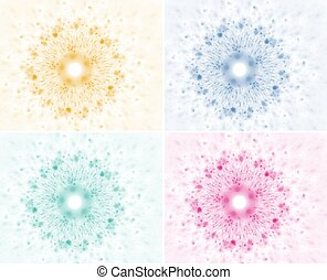abstract background in four different colors.