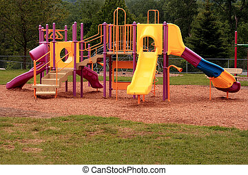 Playgound Jungle Gym - Children's playground gym at the...