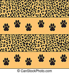 vector leopard  background with traces