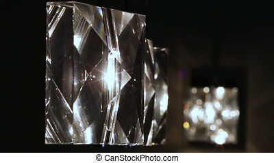 Crystal lamps in a row - As luminous crystal lamps on the...