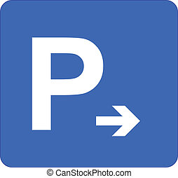 Parking Sign - Illustration Of Parking Sign