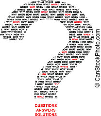 Questions - Question Mark Made Of What When Why Where...
