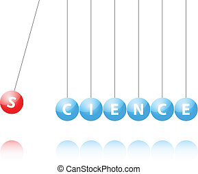 Newton Cradle - Illustration Of Newton Cradle With Science...