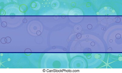Blue Green Retro Looping Animated Background 30 FPS HD