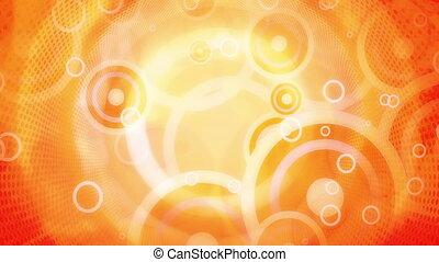 Yellow Orange Retro Shapes Looping Animated Background 30...