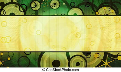 Retro Green Background Looping Animated Background