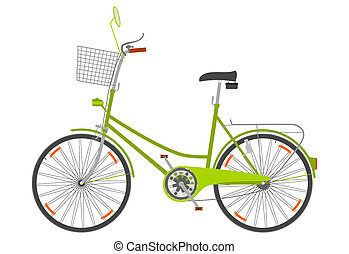 Urban bike. - Urban bike on a white background.