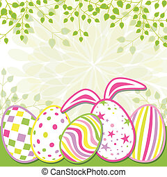 Springtime Easter Holiday Greeting Card