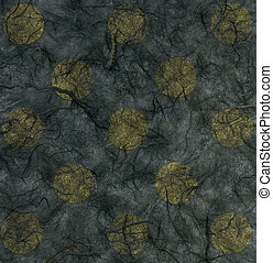 Rice Paper Texture - Yellow Polka Dots - High resolution...
