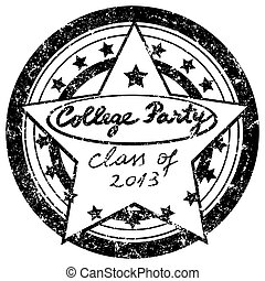 college party stamp - class of 2013 graduation party...