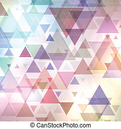 Abstract triangles background - Abstract background with a...