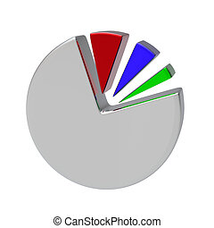 3D Circular diagram on white. Make your reports or...