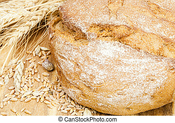 bread with ears of wheat