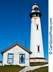 Pigeon Point Lighthouse in Central California, USA