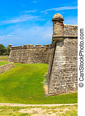 St Augustine Fort, Castillo de San Marcos National Monument,...