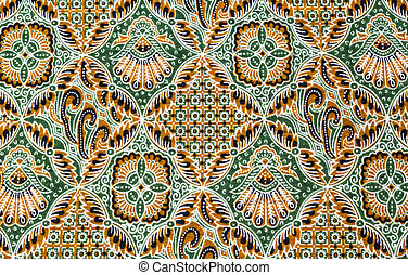 Close up pattern batik fabric - Close up beautiful pattern...