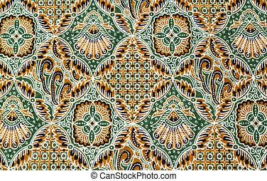 Close up pattern batik fabric - Close up beautiful pattern...