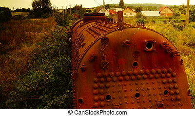 locomotive ruined