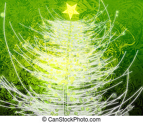 Christmas tree festive holiday abstract wallpaper...