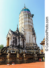 Buddhist Pagoda Temple in Ayutthaya Historical Park , Thailand