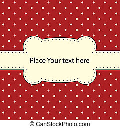 Vector frame, polka dot design