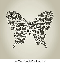Silhouette the butterfly