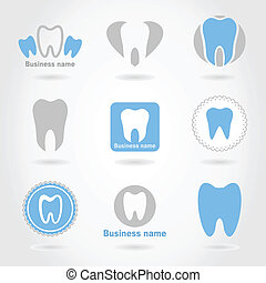 Tooth an icon - Set of icons of a teeth A vector...