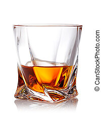whiskey - Glass of scotch whiskey with clipping path