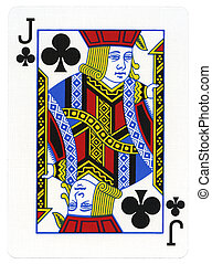 Playing Card - Jack of Clubs - Tel-Aviv, Israel - April...